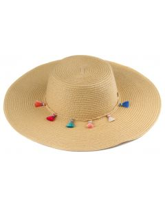 C.C. Exclusives Straw Hat Natural