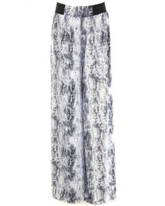 Queens Designs Palazzo Pants Grey Snake