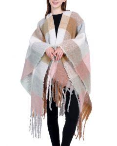 Shine Mark Accessories Women's Plaid Kimono Multi