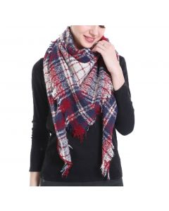 Shine Mark Accessories Plaid Scarf Red