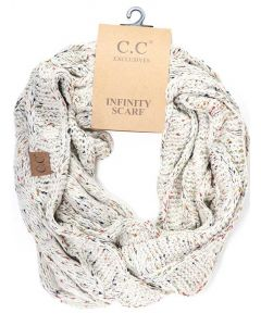 C.C. Exclusives Fleck Infinity Scarf Oatmeal