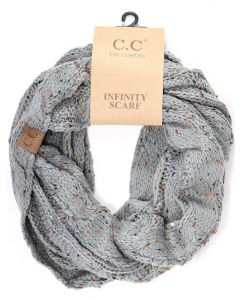 C.C. Exclusives Fleck Infinity Scarf Natural Grey