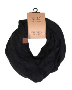 C.C. Exclusives Cable Infinity Scarf Black