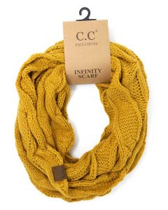 C.C. Exclusives Cable Infinity Scarf Mustard