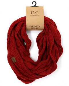 C.C. Exclusives Cable Infinity Scarf Red