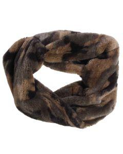 Queens Designs Fur Infinity Scarf Camo
