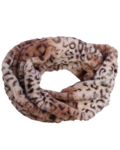 Queens Designs Fur Infinity Scarf Brown