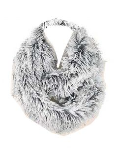Queens Designs Fur Infinity Scarf Black