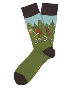 Two Left Feet Men's Drinkin With Sasquatch Sock Sasquatch