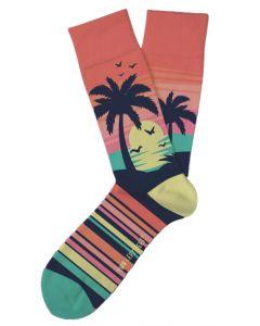 Two Left Feet Women's Caribbean Sunset Socks Sunset