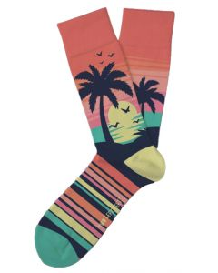 Two Left Feet Men's Caribbean Sunset Socks Sunset