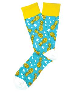 Two Left Feet Men's Pineapple Express Socks Pineapple