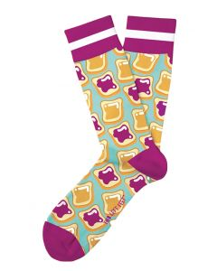 Two Left Feet Men's PB&J Sock PB&J
