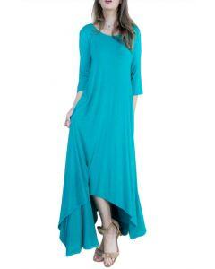 Very Moda Women's Free Falling Dress Aqua