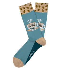Two Left Feet Women's Coffee N Wifi Sock Coffee
