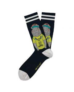 Two Left Feet Women's Hip Hop Hippo Sock Hippo