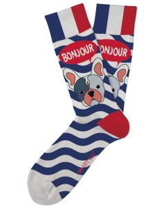 Two Left Feet Men's Bonjour Frenchie Sock Bonjour