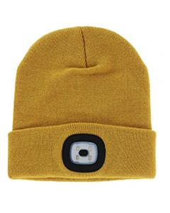 Night Scout LED Beanie Mustard