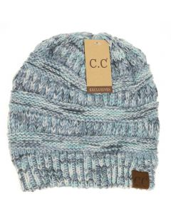 C.C. Exclusives Diagonal Stitch Beanie Denim Multi