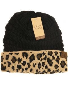 C.C. Exclusives Leopard Hat Black
