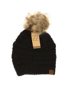 C.C. Exclusives Pom Classic Hat Black