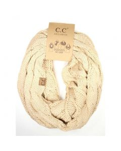C.C. Exclusives Infinity Scarf Beige