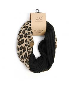 C.C. Exclusives Animal Infinity Scarf Black