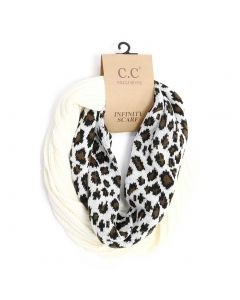 C.C. Exclusives Animal Infinity Scarf Ivory