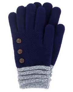 Britt's Knits Women's Gloves Navy