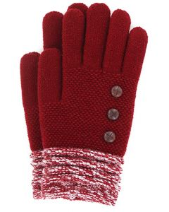 Britt's Knits Women's Gloves Burgundy