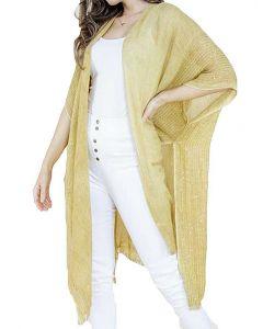 Very Moda Women's Sequin Kimono Gold