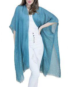 Very Moda Women's Sequin Kimono Teal