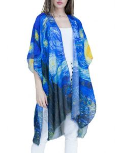 Very Moda Women's Museum Print Kimono Starry Night