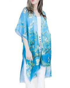 Very Moda Women's Museum Print Kimono Almond Blossom