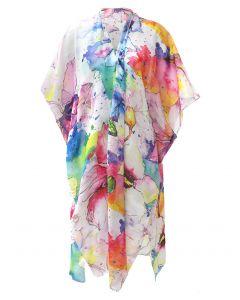 Very Moda Women's Museum Print Kimono Watercolour