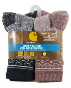 Carhartt Women's Wool Blend Crew Sock 4 Pink