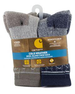 Carhartt Women's Wool Blend Crew Sock 4 Navy