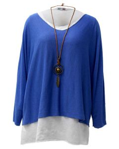 Catherine Lillywhite Layered Necklace Top Royal