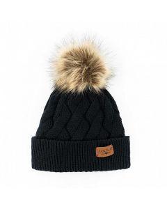 Britt's Knits Mainstay Pom Hat Black