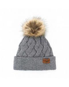 Britt's Knits Mainstay Pom Hat Grey