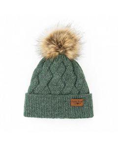 Britt's Knits Mainstay Pom Hat Green