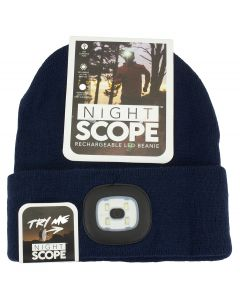 Night Scout Men's Rechargeable LED Beanie Navy