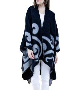 Very Moda Swirl Runan Wrap Black