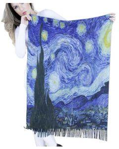 Very Moda Museum Print Shawl Starry Night