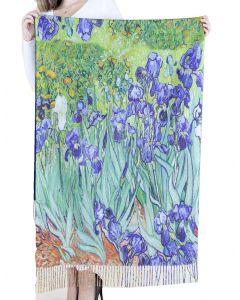 Very Moda Museum Print Shawl Iris Flower