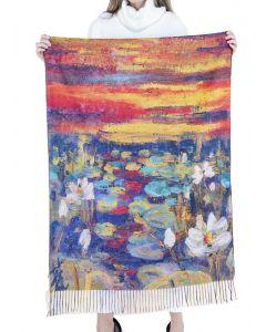 Very Moda Museum Print Shawl Water Lilies