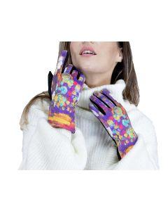 Very Moda Museum Print Gloves Paint Drops