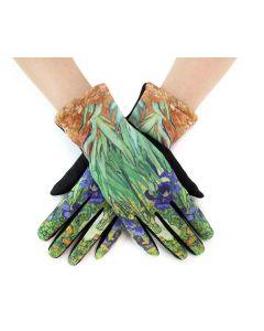 Very Moda Museum Print Gloves Iris Flower