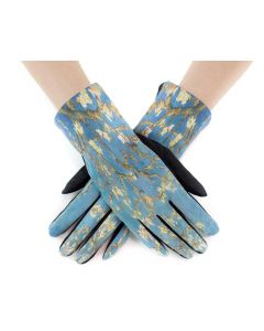 Very Moda Museum Print Gloves Almond Blossoms