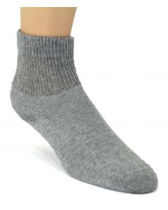 Foot Care Women's Diabetic and Circulatory Comfort Socks 2 Pack Grey